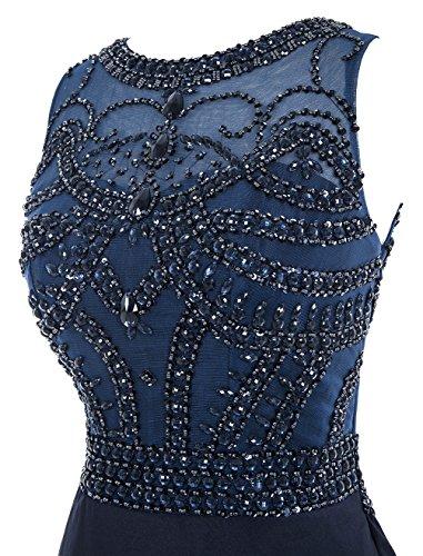 Dresstells, Robe de soirée de mariage/cérémonie/bal forme sirène traîne moyenne emperlée Rose