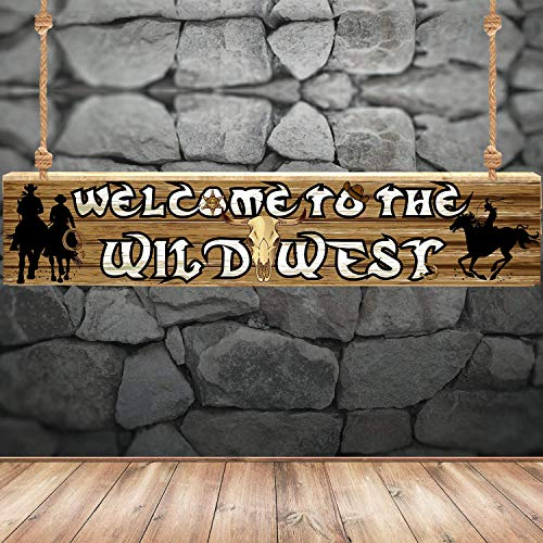 Blulu Decorazione della Festa Occidentale Bandiera di Cowboy Occidentale Decorazione Parete della Cabina della Foto di Contesto del Occidentale