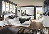 Schlafzimmer, Schlafzimmermöbel, Set komplett, Komplettset, Schlafzimmereinrichtung, Komplettangebot, Einrichtung, 4-teilig, Alpinweiß