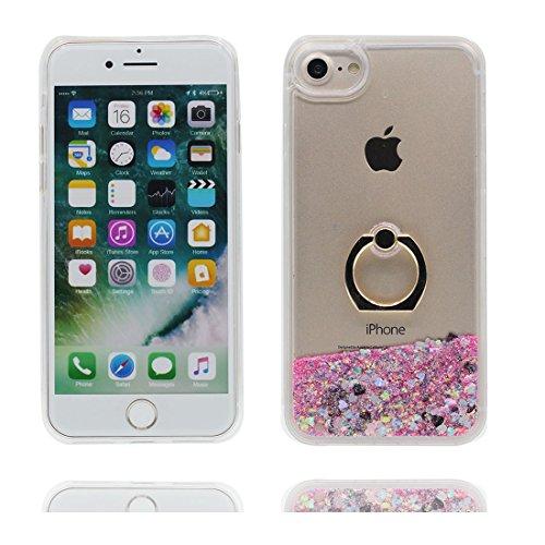 iPhone 5 Coque, Étui Cover Housse pour iPhone 5S 5C 5G, Bling Glitter Fluide Liquide Sparkles Sables Hard Shell iPhone SE Case, Princesse sirène Mermaid-Résistant à la poussière Scratch color-14