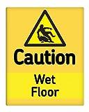 Caution Wet Floor Sicherheit Hazard Metall Schild 25,4x 20,3cm selbstklebend 171