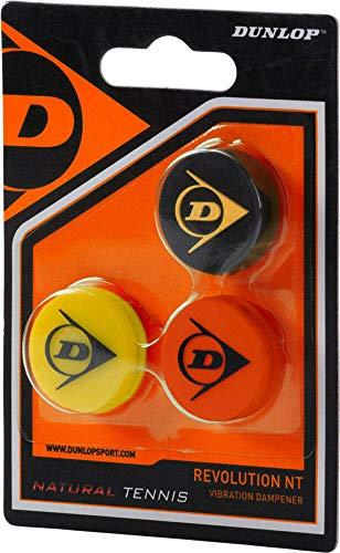 Dunlop Schlägerzubehör Revoution NT Dämpfer 3er, gelb/silber, - Tennisschläger Dunlop Dämpfer
