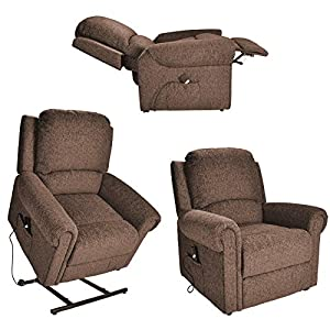 Tetbury electric Riser Recliner / Lift and Tilt rise mobility Chair - Chocolate brown fabric