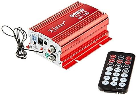 MA-700 2 Channel 500W USB AUX FM MP3 Car Audio Amplifier with remote controller