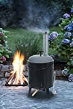 KaminoFlam Outdoor Grill Charcoal - Outdoor Cooker in Steel - Outdoor Soup Pot with Chiminea - Goulash Pot Tripod - Outdoor Kitchen - Camping Kitchen - Field Kitchen