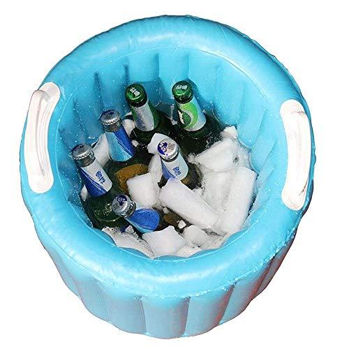 GJXY Aufblasbare Bier Kühler Eimer Pool Float Sommer Wasser Party Air Schwimmer EIS Eimer Serving/Salat Bar Eimer,Blue -