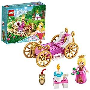 LEGO Disney Princess - Carruaje Real de Aurora Juguete de Construcción Inspirado en la Película de Disney La Bella Durmiente, Contiene un Carruaje, una Mesa y una Tarta (43173)