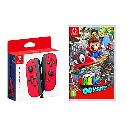 Nintendo Schalter-Joy-Con (L/R) Rot mit Super Mario Odyssey - Super Kostüm Skins