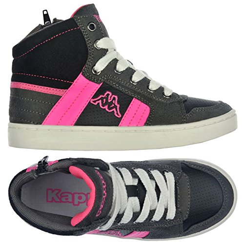 Sneakers - Valessia Zip Kid - Enfants Rose - Black-Fuxia
