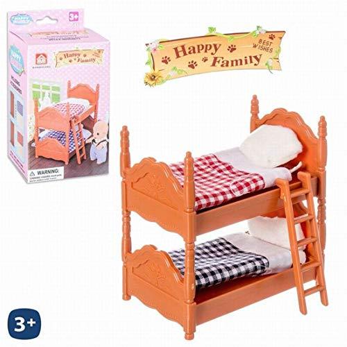 Juguetes Industriales Cama litera de Happy Family Medidas 17.5 x 14.5 cm
