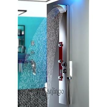 colonne de douche acier inoxydable miroir hydromassante. Black Bedroom Furniture Sets. Home Design Ideas