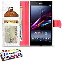 Muzzano Le Folio - Funda para Sony Xperia Z Ultra, color blanco