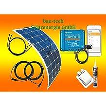 100Watt Wohnmobil Solar-Set, flexibles Solarmodul Victron Laderegler bluotooth von bau-tech Solarenergie GmbH