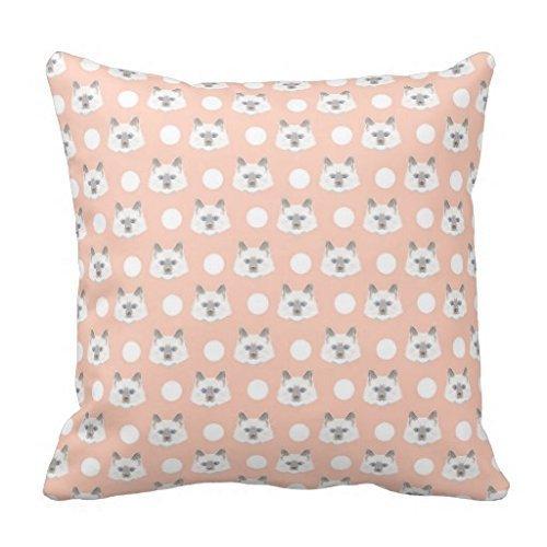 Cute Chic Pretty Dutch Delfts Blue Squares Pattern Pillow Case 18