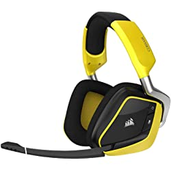 Corsair VOID PRO Wireless SE Cuffie Gaming per PC, Dolby 7.1, Giallo