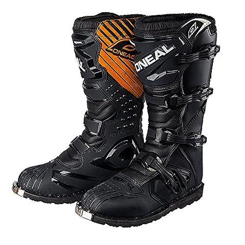 Men's Motorcycle Boots O'NEAL Rider Adult Motocross Motorbike Quad Dirt Bike Off Road Enduro Boots in Black (EU 41 / UK