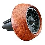Vicera Auto Duftspender | Auto Lufterfrischer für Einen angenehmen Duft im Innenraum | Autoduft mit 3 nachfüllbaren Aromen (Braun)