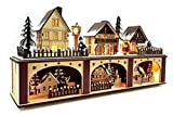 Wichtelstube-Kollektion LED Holz Lichtersockel mit Timer Schwibbogen Weihnachtsdorf im Erzgebirge