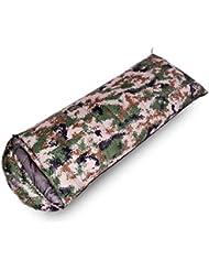 CHENGXIAOXUAN Ejército De Camuflaje Verde Al Aire Libre Para Acampar Adulta Para Dormir Bolsa De Pato Blanco Abajo,DigitalCamouflage2800g-210*80cm