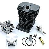 Cilindro Pistón Pin Kits & carburador Zama & Bomba de aceite y Bujía Para Stihl MS180018motosierra 38mm