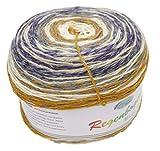 Rellana Mirage Royal - Bobbel Wolle 1120 - Ovillo de Lana para Punto y Ganchillo, Color Degradado