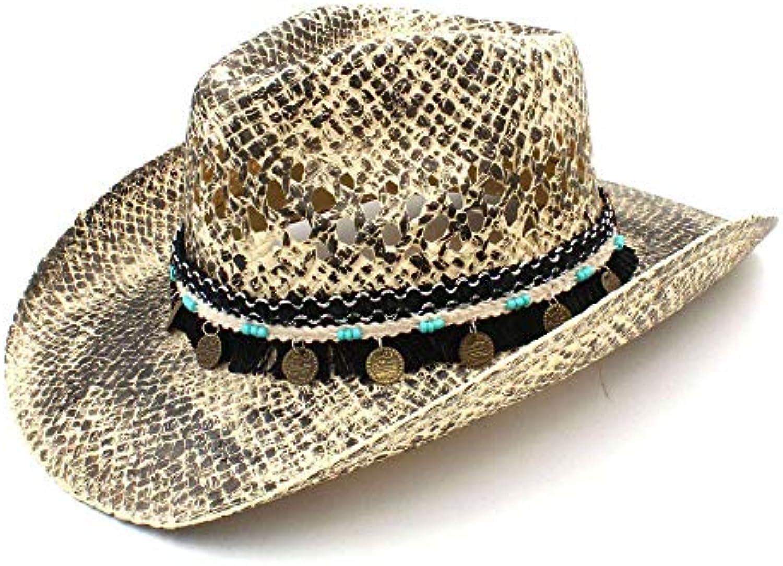 Yetta Home Cappello - Cappello da Cowboy Occidentale Donna da Donna  Occidentale in Paglia con Cappello Lavorato a Mano Parent f4f779 fe919d502a60