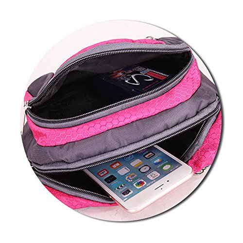 Etopfashion Water Resistant Waist Pack Sport Fanny Pack Casual Waist Bag frizione pettorale Pocket Workout Exercise Borsa lombare Custodia porta cellulare Custodia per iPhone 6 6S 7 Plus Galaxy S8 bor verde