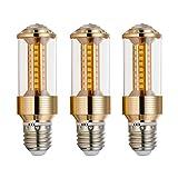 BOGAO E27 LED Lampe, 85-265V, 15W Tageslicht,3 pack, entspricht 100-120 Watt Leuchtmittel, 1500 Lumen LED-Lichter, nicht dimmbar (GJZT, 6000K),weiß, E27, 15.00 wattsW 230.00 voltsV