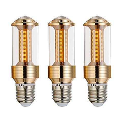 Bogao (lot de 3) E27LED Ampoule de maïs, 85–265V, 15W Blanc lumière du jour lampe de maïs LED, 100–120W équivalent ampoules, E27Base, 1500lumens Lampes LED, variateur d'intensité (Jzt, 6000K), blanc, E27, 15.00 wattsW 230.00 voltsV