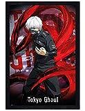 Tokyo Ghoul in schwarzes Holz eingerahmtes Ken Kaneki Maxi Poster 61 x 91,5 cm