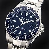 Gigandet Automatik Herren-Armbanduhr Sea Ground Taucheruhr Uhr Datum Analog Edelstahlarmband Blau Silber G2-009 - 3