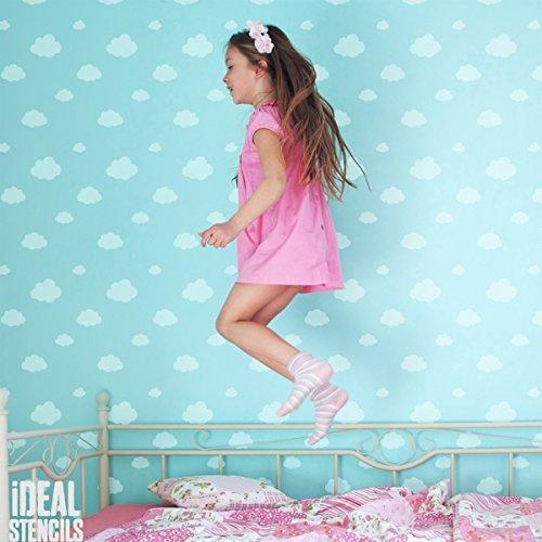 Wolken Wallpaper (Wolke Himmel Kinderzimmer Muster Schablone Home Kinderzimmer Wand Dekorieren Kunst & Basteln Schablone Farbe Wände Stoffe & Möbel 190 Mylar wiederverwendbar Schablone)