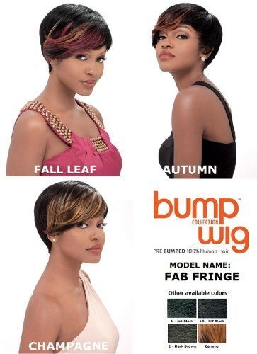 Sensationnel Bump Human Hair Wig - Fab Fringe-Champagne by Sensationnel Fab Fringe