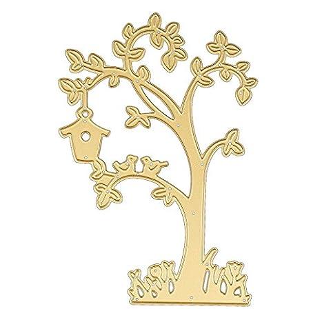 Nouveau type de 250en métal de coupe Dies Pochoirs Scrapbooking carte de papier craft gaufrage DIY par Damark (TM), doré,