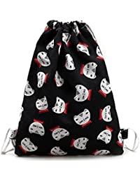Sannysis bolsos de mujer con cordón, mochila infantil. Gato mochila de lona