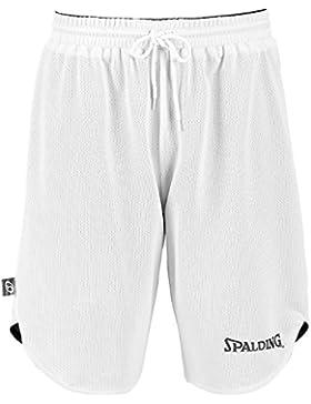 Spalding Doubleface, Conjunto reversible camiseta y pantalones de baloncesto para niños, Negro/Blanco (Black/White...