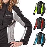 Motorradjacke -Unique-Motorrad Damen Wasserdicht Jacke mit Protektoren Sommer Winter Textil