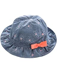 Sombrero del pescador del bebé para el sombrero ancho del bordado de la muchacha para la primavera