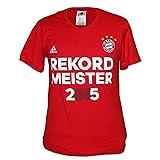 FC Bayern adidas T-Shirt Deutscher Meister 2015, Frauen Größe L