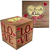 Eine Box voller Liebe - Liebevolle Geschenk-Schachtel für Verliebte zum Valentinstag, Geburtstag, Jahrestag oder zu Weihnachten (Zum selber füllen)