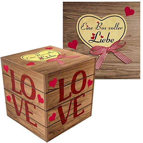Eine Box voller Liebe - Liebevolle Geschenk-Schachtel für Verliebte zum Valentinstag, Geburtstag, Jahrestag oder zu Weihnachten (Zum selber füllen) (Geschenk-boxen Weihnachten)