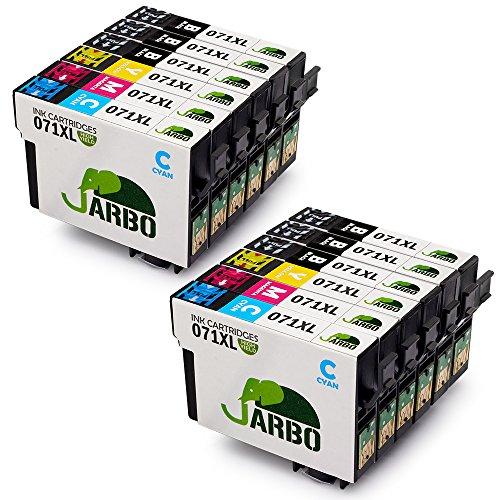 JARBO Reemplazo para Epson T0711 T0712 T0713 T0714 (T0715) Cartuchos de tinta Alta capacidad Compatible con Epson Stylus SX218 SX515W SX400 SX200 D78 D92 D120 DX4000 DX4050 DX4400 DX4450 DX6050 DX7000F DX7400 DX8400 SX115 SX205 SX209 SX210 SX215 SX405 SX405WiFi SX510W BX600FW (6 Negro,2 Cian,2 Magenta,2 Amarillo)
