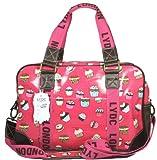 Lydc Women's Cupcake Design Weekend Bag Red SS01035 Large