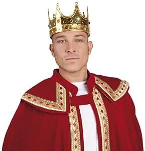 Chapeau King Couronne pour homme Déguisement Nativité médiéval livre Jour Adulte accessoire de costume