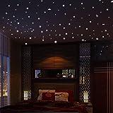 """TTMall 2Pezzi Adesivo Da Parete""""Glowing Dark Star"""" Verde Luminoso 407 Pezzi Illuminazione Dot Camera Per Bambini Decorazione Più Dimensioni"""