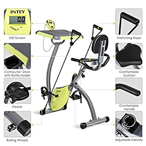 INTEY Magnetic Resistance Exercise Bike With Desktop Fitness Machine Bike Trainer Home Gym Equipment from INTEY