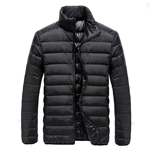 SOY Herren Daunenjacke Winterjacke Leicht Duenn Daunenmantel Herren Down Jacket