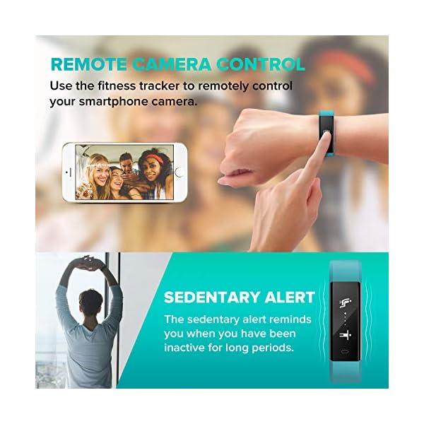 Runme Pulsera Actividad, Pulsera Inteligente con Monitor de Sueño y Podómetro, Rastreador de Actividad con SNS y Alerta… 6