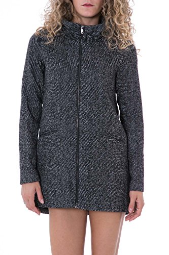 ONLY - Cappotto donna cappuccio dogville wool hooded coat s grigio scuro