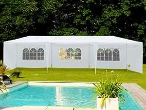 Viva Green - Tente de réception Carolina en polyéthylène - 3 x 9 m